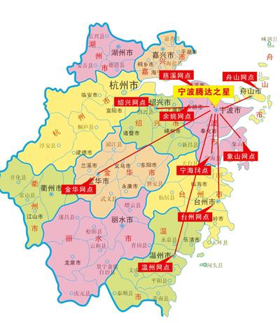 宁波宁海地图高清版